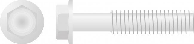 Parafuso Sextavado c /  Flange M8 (chave-10mm 10 / un)