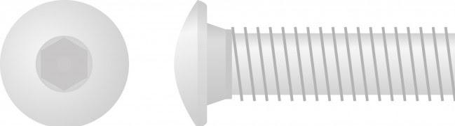 Parafuso Sextavado Interior Cabeça Oval (10un)