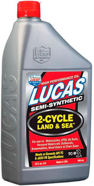 Óleo de mistura 2T (Motas de Água) Semi-sintético LUCAS OIL