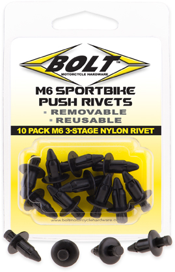 Rebites para Plásticos M6 3-STAGE (10 / un)