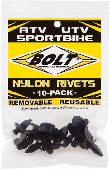 Rebites para Plásticos M7 PUSH & PRY RIVETS (10 / un)