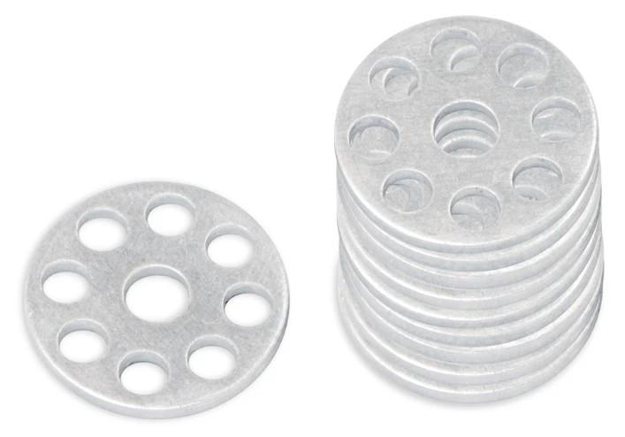 Anilha de Alumínio Cinza (10 / un)