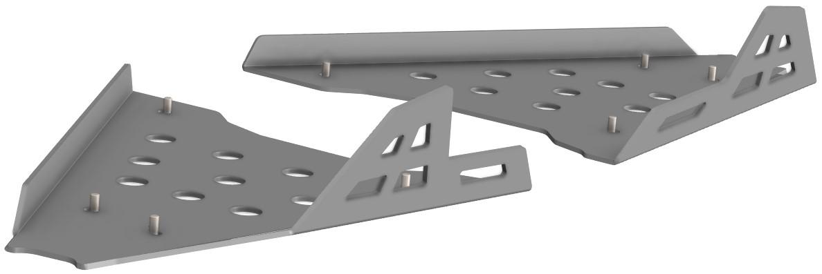 Proteção de Triangulos Frente Aluminio CROSSPRO arctic cat 1000 2012