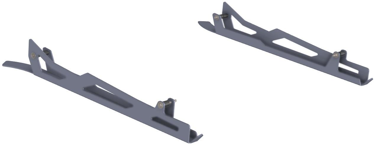 Proteção de Triangulos Trás Aluminio Preto