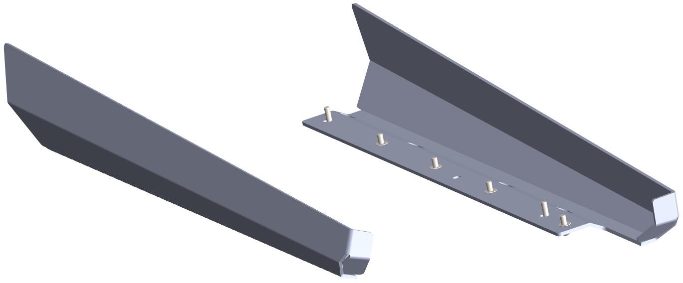 Protecção Lateral Embaladeira Polaris RZR 800 Preto Texturad CROSSPRO