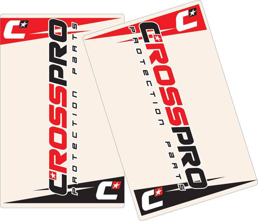 Autocolantes de Suspensão CrossPro Transparente 2un