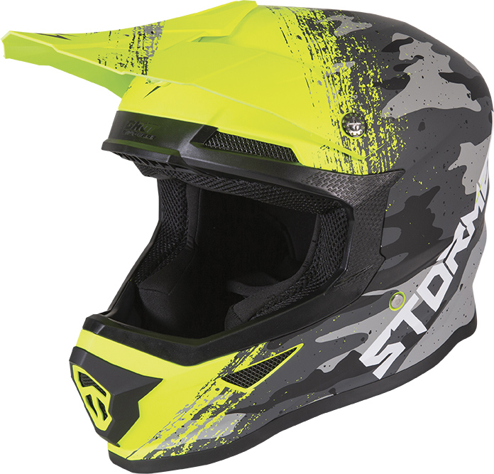 Capacete FORCE FAST Amarelo Mate STORMER
