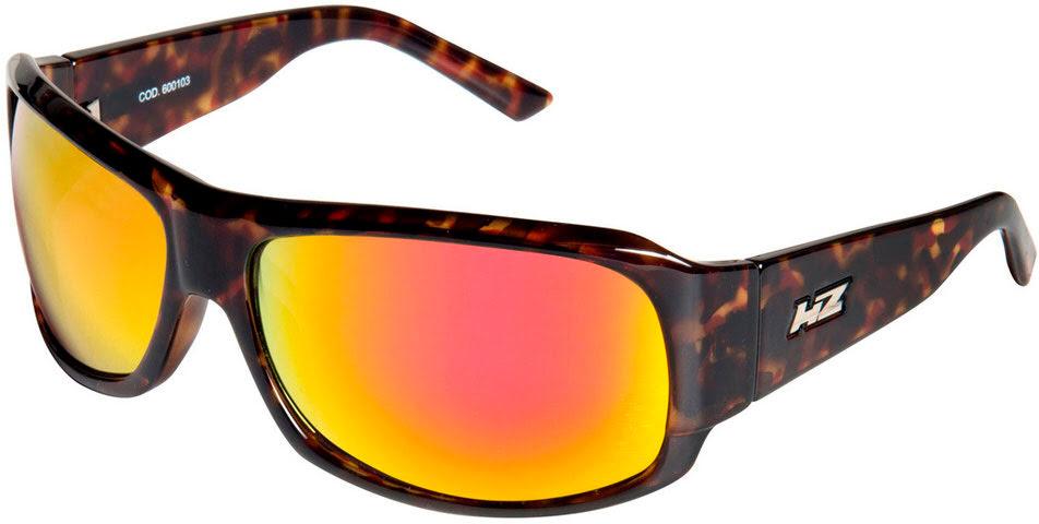 "Oculos de sol HZ ""grubbi"" Havana (Lente laranja)"