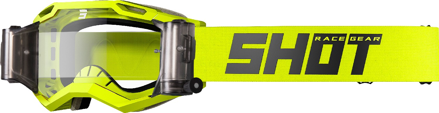 GOGGLES IRIS 2.0 SOLID NEON YELLOW ROLL-OFF GLOSSY