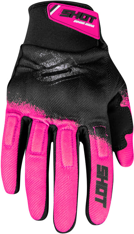 Luvas DRIFT SMOKE Rosa neon (11-Usa) - XL
