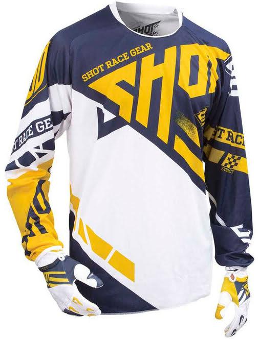 Camisola CONTACT RACEWAY Amarela / Azul SM SHOT