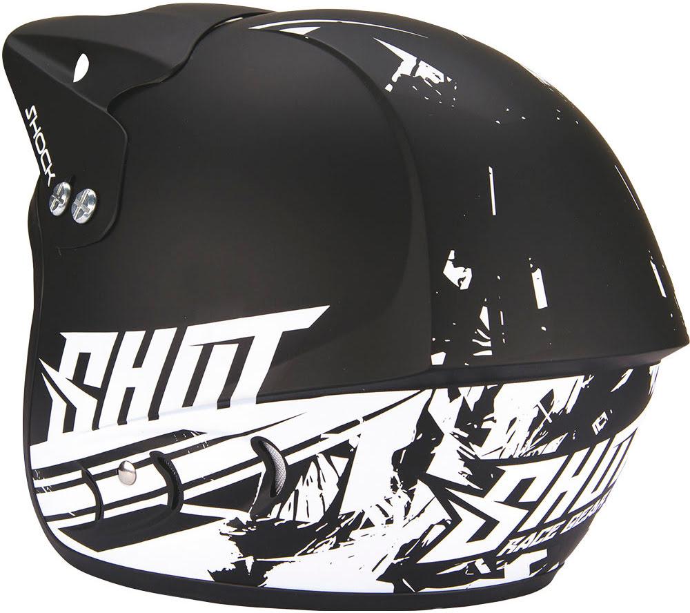 Helmet Jet SHOCK DECO BLACK MATT SHOT