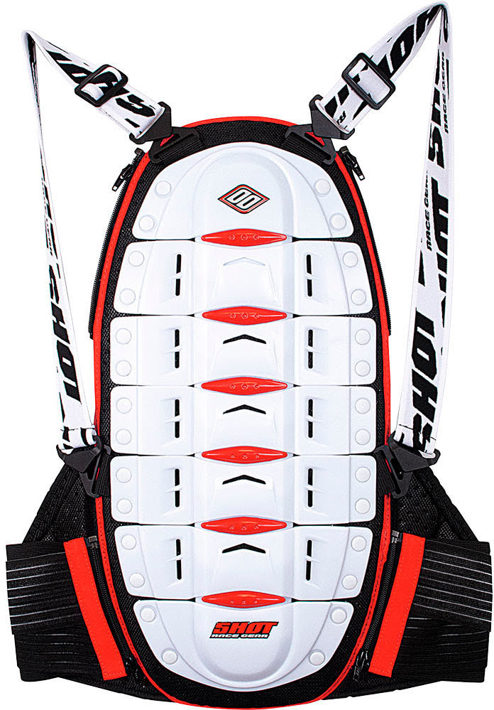 BACK PROTECTOR SHOT WHITE