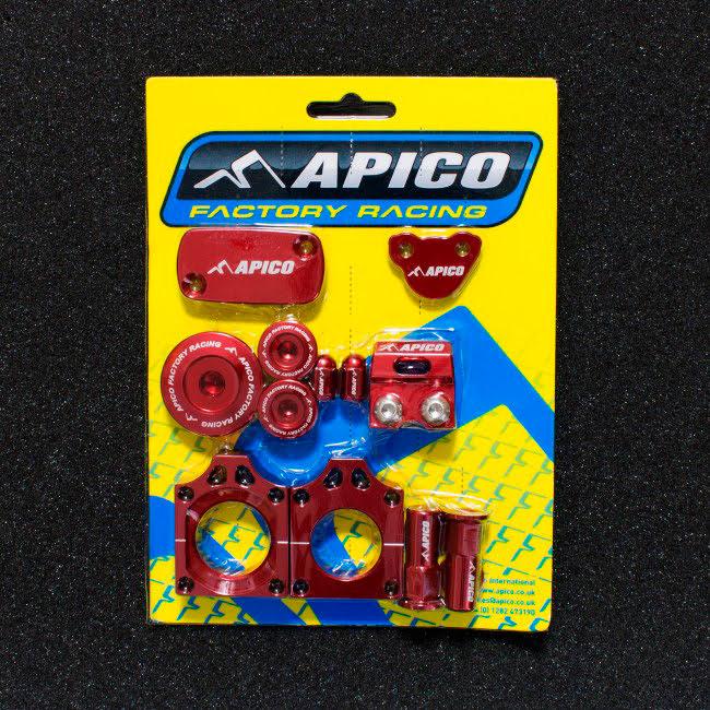 Kit peças anodizadas Vermelhas APICO