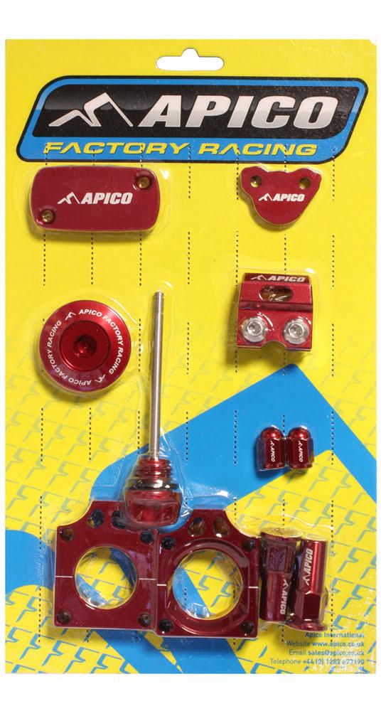 Kit peças anodizadas Vermelhas