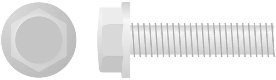 Parafuso Sextavado c /  Flange (chave-10mm 10 / un)