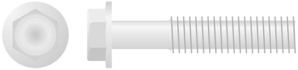 Parafuso Sextavado Baixo Perfil c /  Flange (10un)