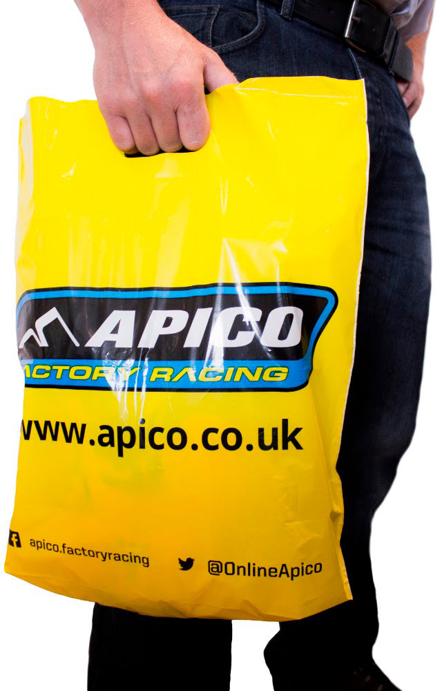 APICO CARRIER BAG - YELLOW PACK 50