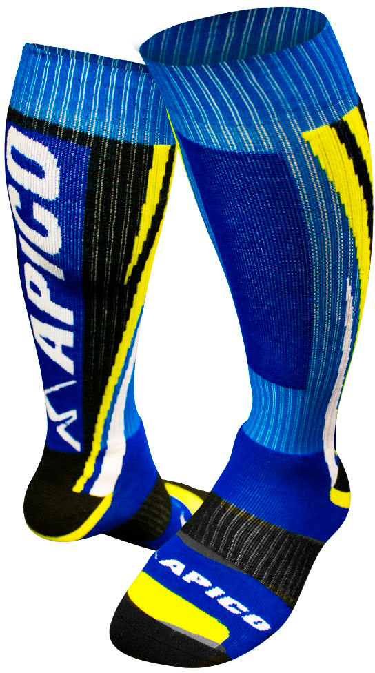 APICO SOCKS BLUE / YELLOW / WHITE