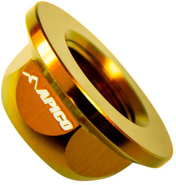 REAR WHEEL AXLE NUT, BETA REV / EVO 125-300 04-18 GOLD