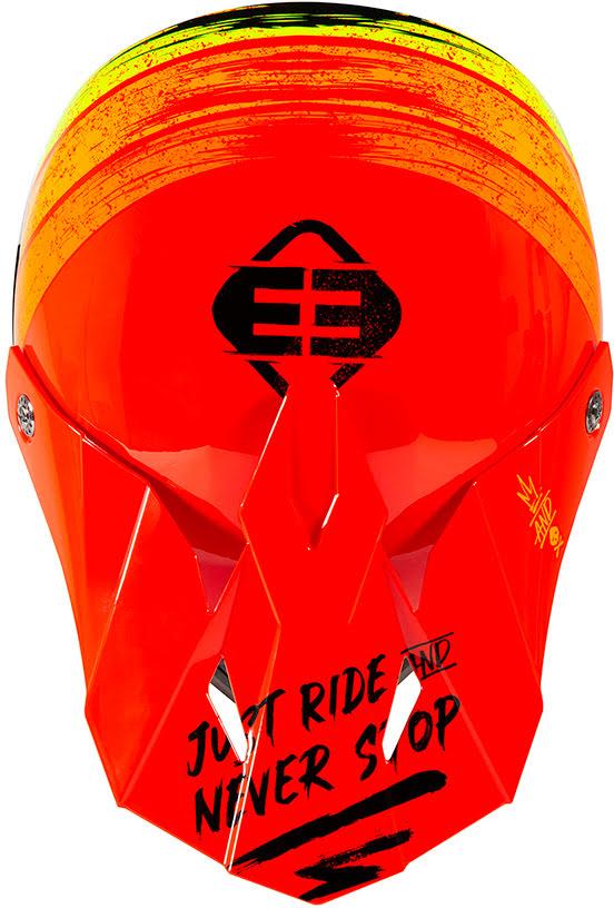 Capacete Criança FURIOUS XP-4 STRIPE Vermelho brilho