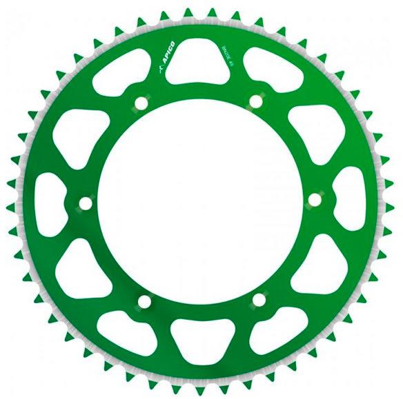 SPROCKET REAR EVOLITE KAWASAKI GREEN 49T KX125 / 250, KXF250 / 4