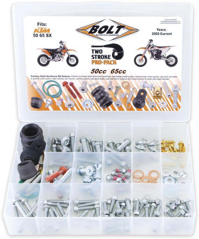 Kit de Parafusos EURO STYLE PRO PACK 2T KTM SX50-65 02-17 APICO
