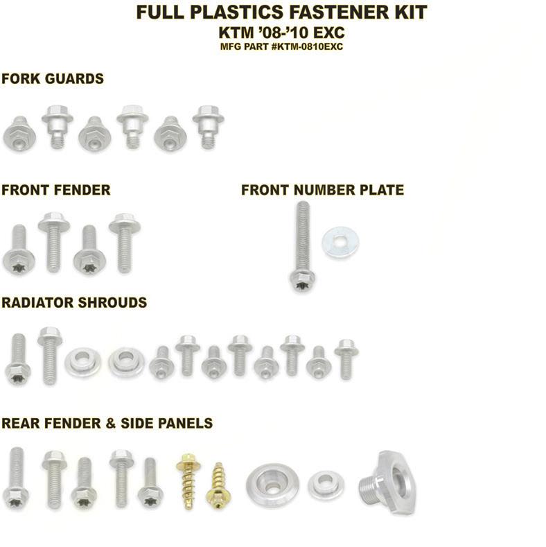 Kit de parafusos para plasticos completo