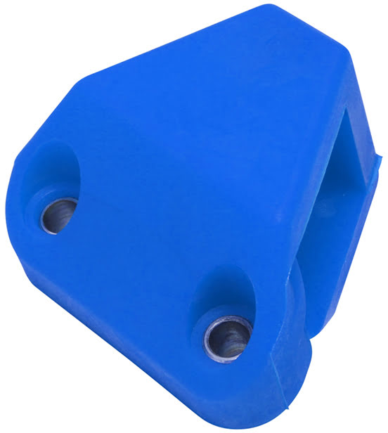 CHAIN TENSIONER PAD UNIVERSAL ANGLED BLUE