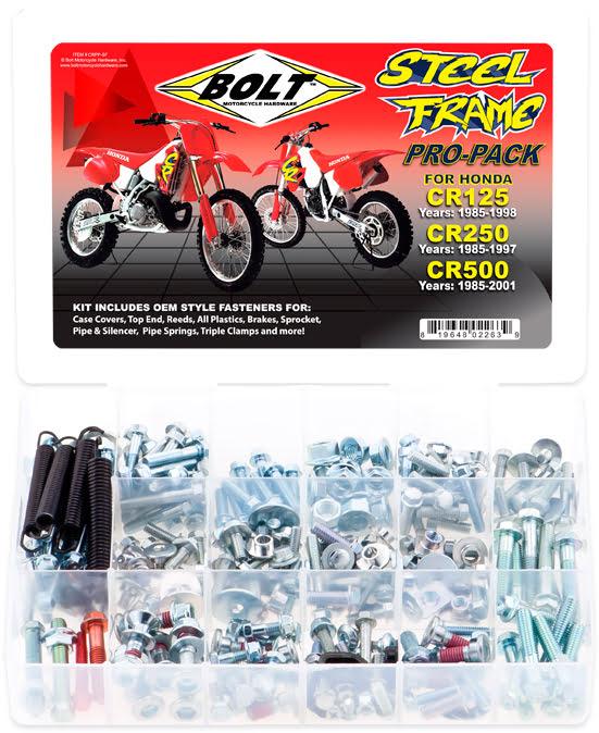 Kit de Parafusos PROPACK | HONDA CR STEEL FRM BOLT MOTORCYCLE HARDWARE