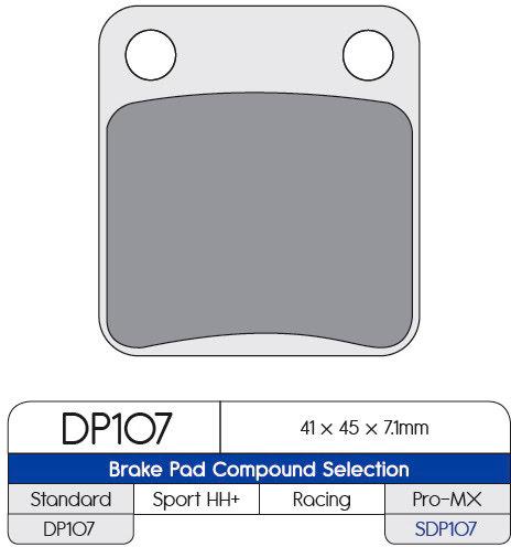 Pastilha de travão Sinterizada (SDP PRO-MX) DP Brakes DP BRAKES