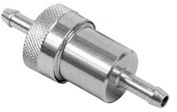 Filtro de gasolina metal cromado 8mm