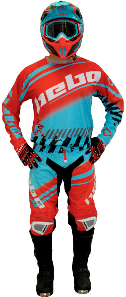 Riding Gear Hebo STRATOS Turquoise / Red HEBO
