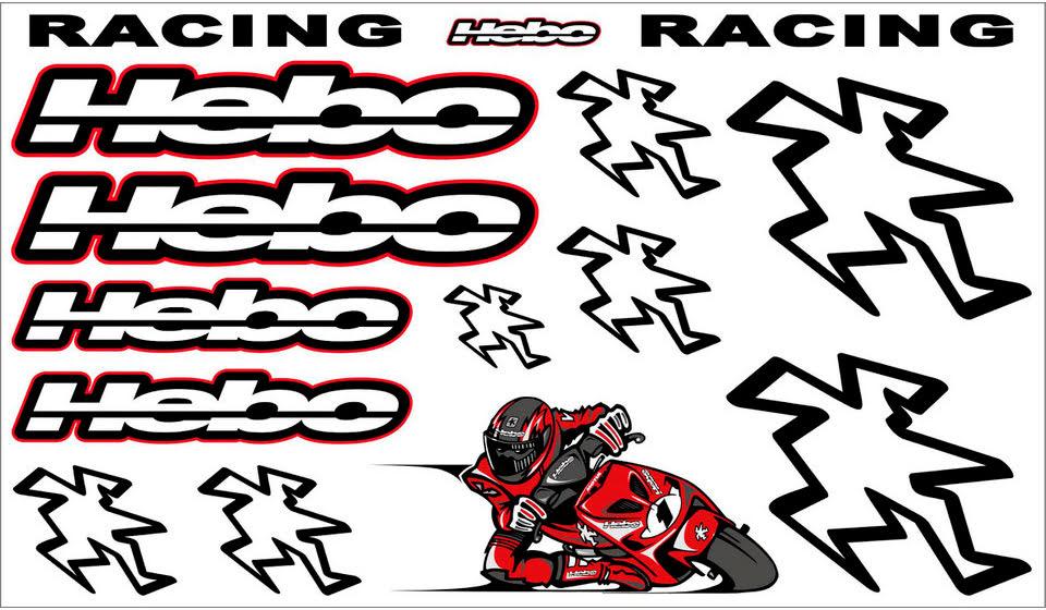 FOLHA KIT AUTOCOLANTES RACING HEBO MERCHADISING 08