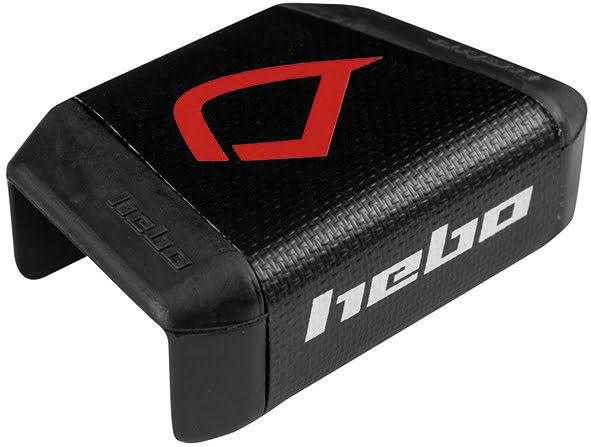 Esponja de Guiador 28mm TRIAL HEBO Preta / Vermelha HEBO