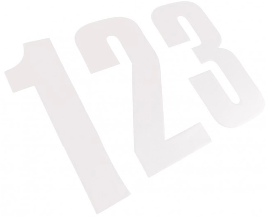 "NUMBER 4 WHITE 8"" / 20CM 20 PACK"