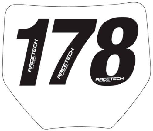 NUMERO DORSAL PRETO PVC TAMANHO I - Nº0 - PACOTE 10UN