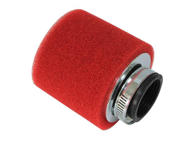 Filtro de ar universal 50mm Vermelho RACEPRO