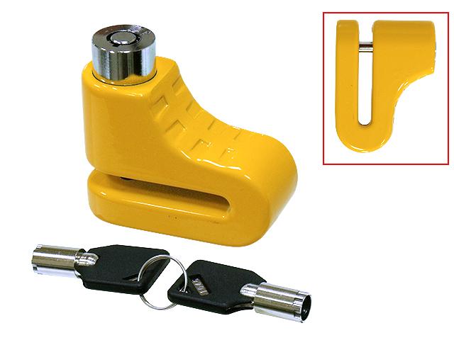 Cadeado para disco de travão pequeno Amarelo