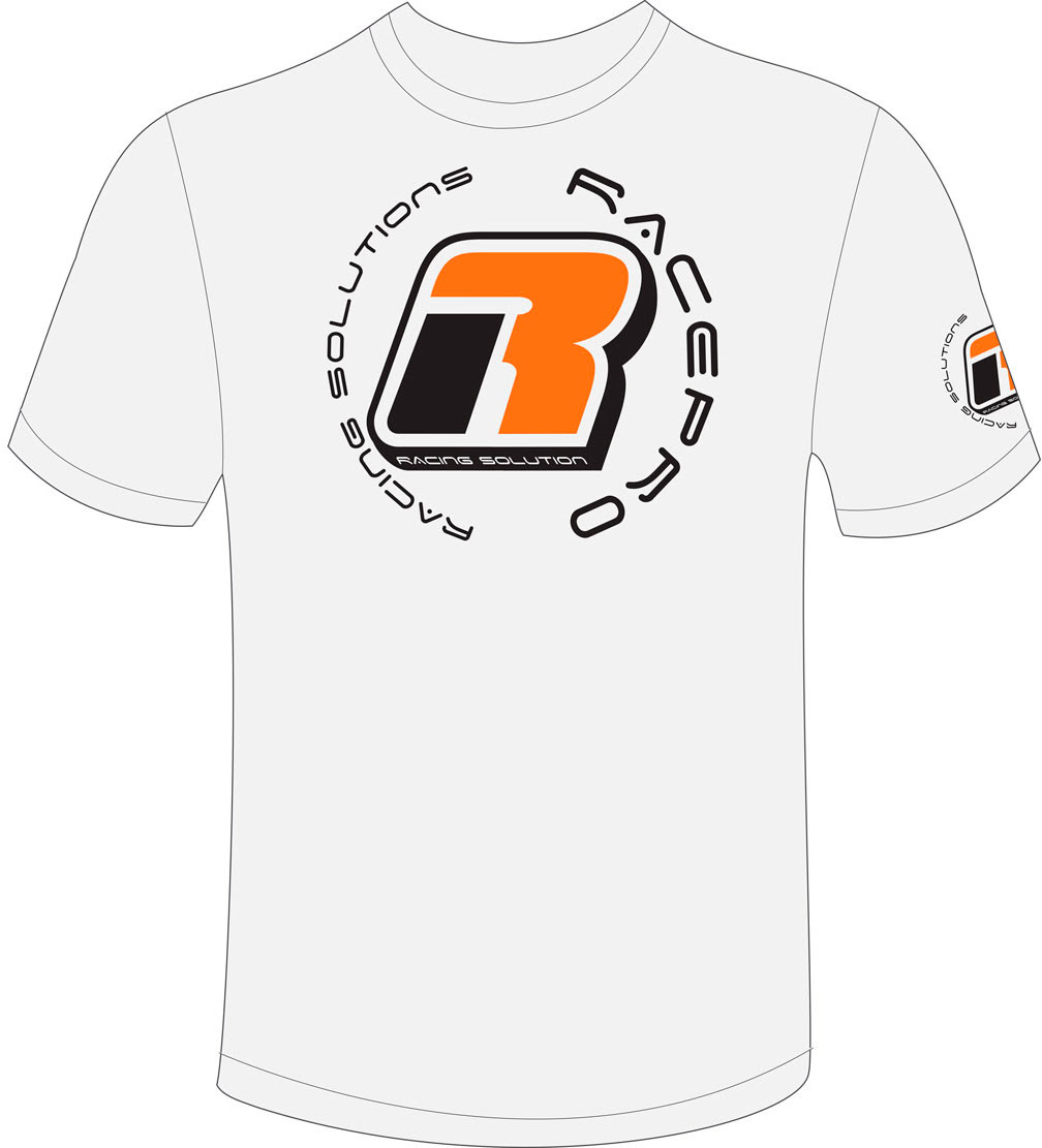T-shirt RacePro Racing Solution Branca