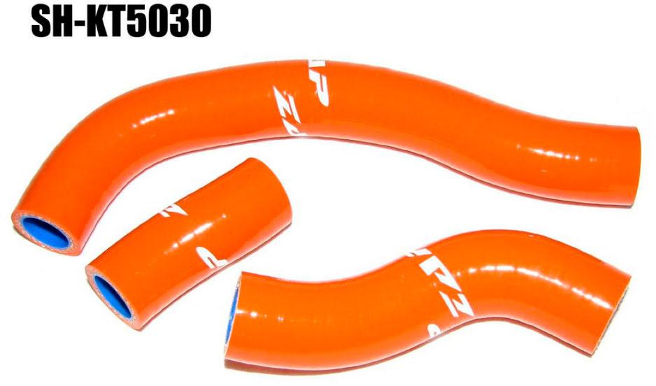 TUBOS RADIADOR SILICONE KTM SXF450 08-09 LARANJA