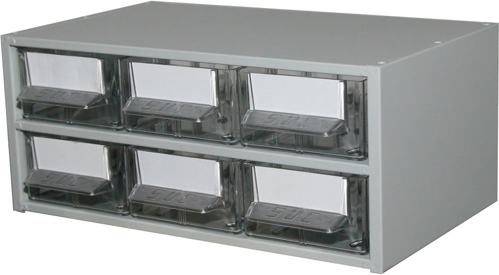 Estante Metálo-Plástica com 6 gavetas n.º 2