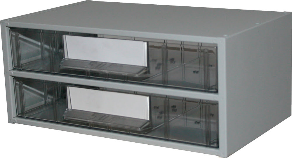Estante Metálo-Plástica com 2 gavetas n.º 4