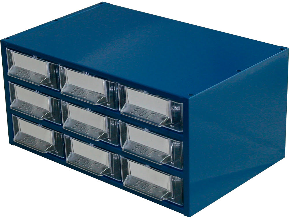 Estante Metálo-Plástica com 9 gavetas n.º 7 SUC