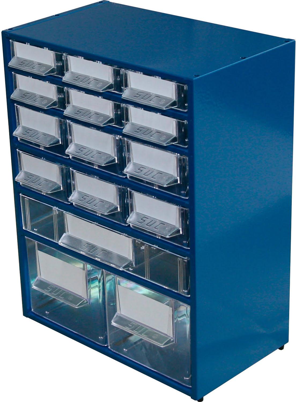 Estante Metálo-Plástica com 15 gavetas