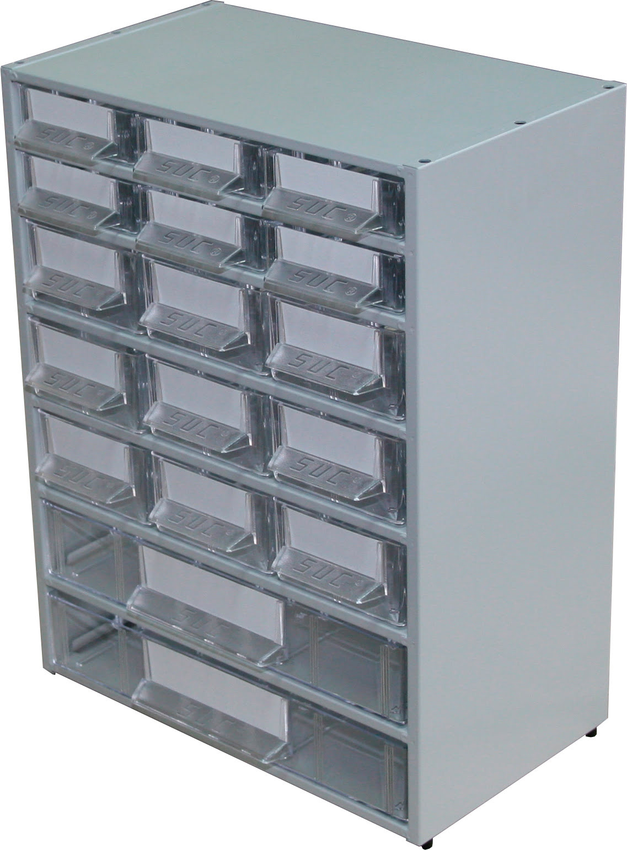 Estante Metálo-Plástica com 17 gavetas SUC