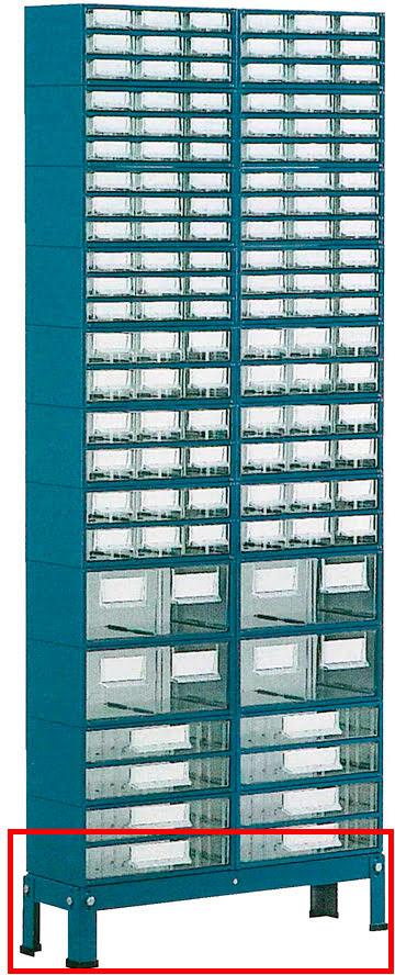 Suporte p / est.1 a 4 c / Pés Baixos 2 filas simp. azul