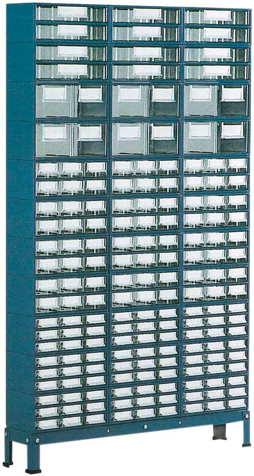 Suporte p / est.1 a 4 c / Pés Baixos 3 filas simp. azul