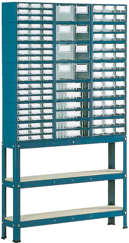 Suporte p / est.1 a 4 c / Pés Altos 3 filas simp. azul