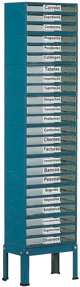 Suporte p / est. 5 a 8 c / Pés Baixos 1 fila simp. azul SUC